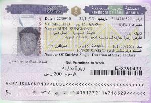 visa arab saudi 2010